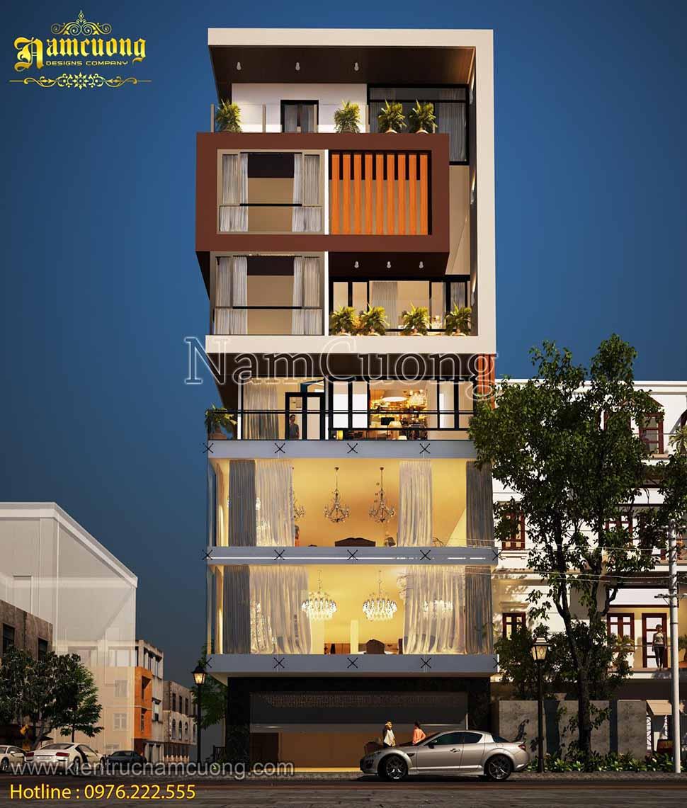 Vẻ đẹp nghệ thuật của mẫu thiết kế nhà phố vừa ở vừa kinh doanh