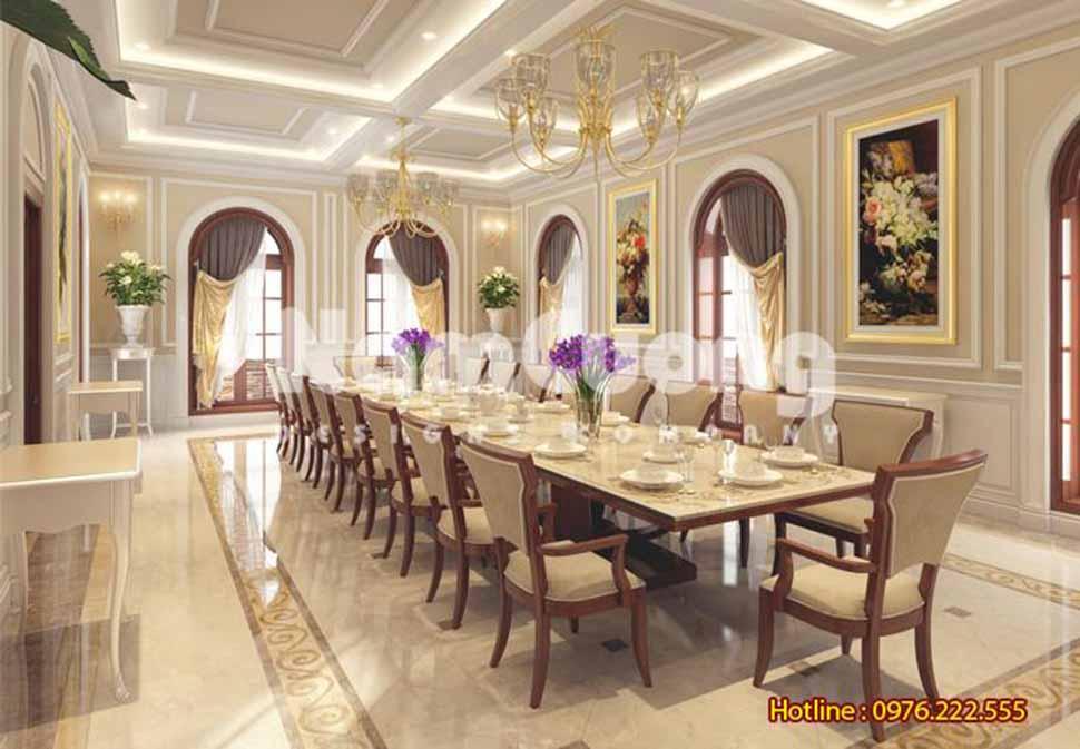 phòng bếp ăn kiểu pháp