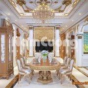 Mẫu thiết kế nội thất phòng ăn kiểu Pháp