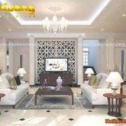 Mẫu thiết kế nội thất phòng khách bếp