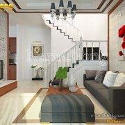 Mẫu nội thất phòng khách hiện đại ấn tượng tại Hải Phòng - PKHD 002