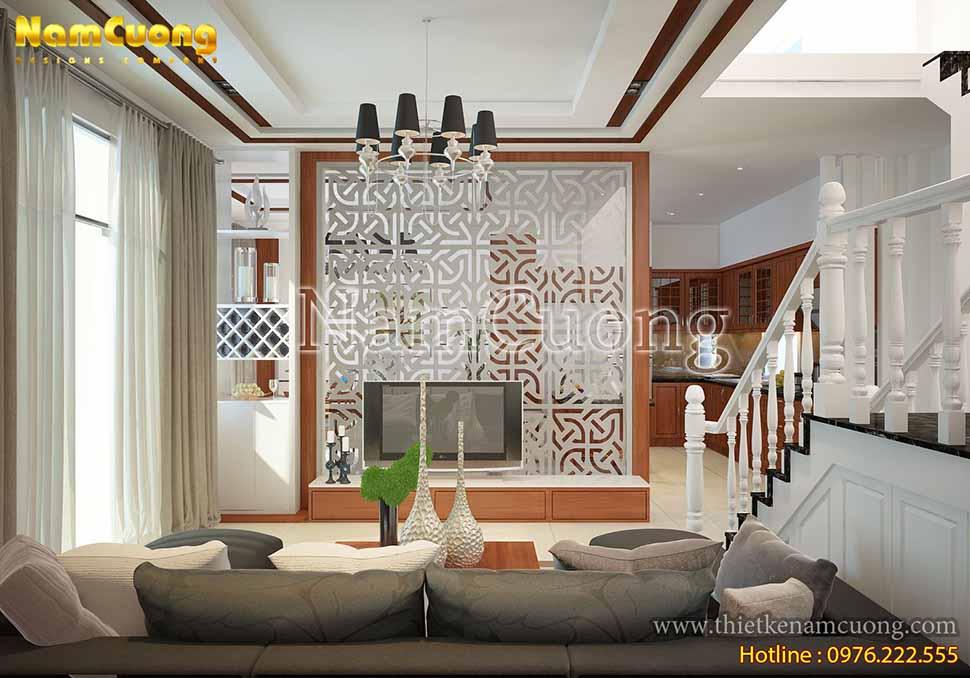 Mẫu nội thất phòng khách hiện đại tại Hải Phòng