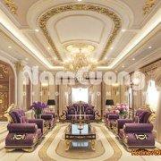 Mẫu thiết kế nội thất phòng khách kiểu Pháp