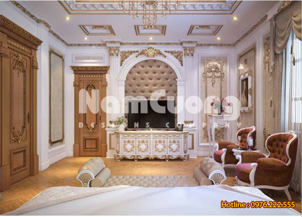 Thiết kế nội thất phòng ngủ kiểu Pháp