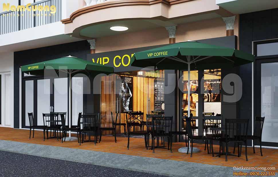 thiết kế mặt tiền quán cafe