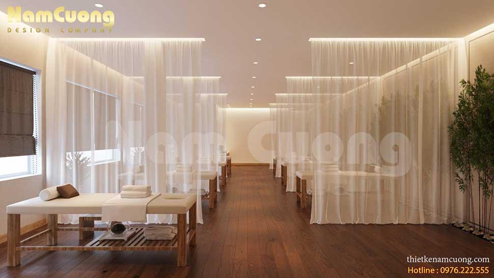 khu massage trong thiết kế nội thất spa