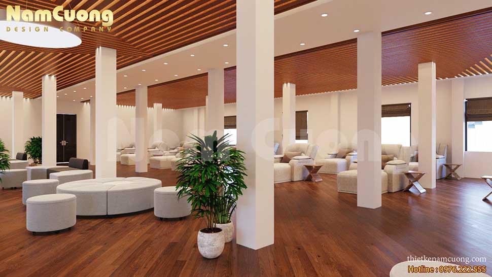 vẻ đẹp của mẫu thiết kế nội thất spa