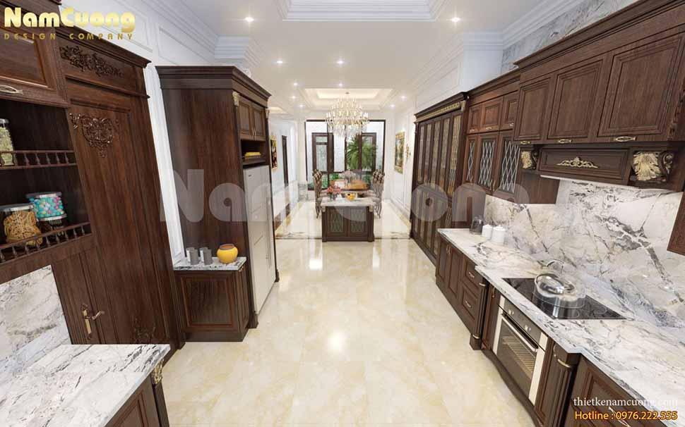 khu bếp nấu nội thất tân cổ điển đẹp