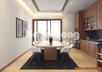 thiết kế phòng bếp 20m2