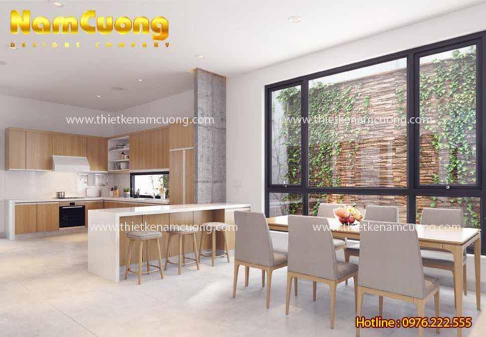 Mẫu thiết kế phòng bếp biệt thự hiện đại đẹp