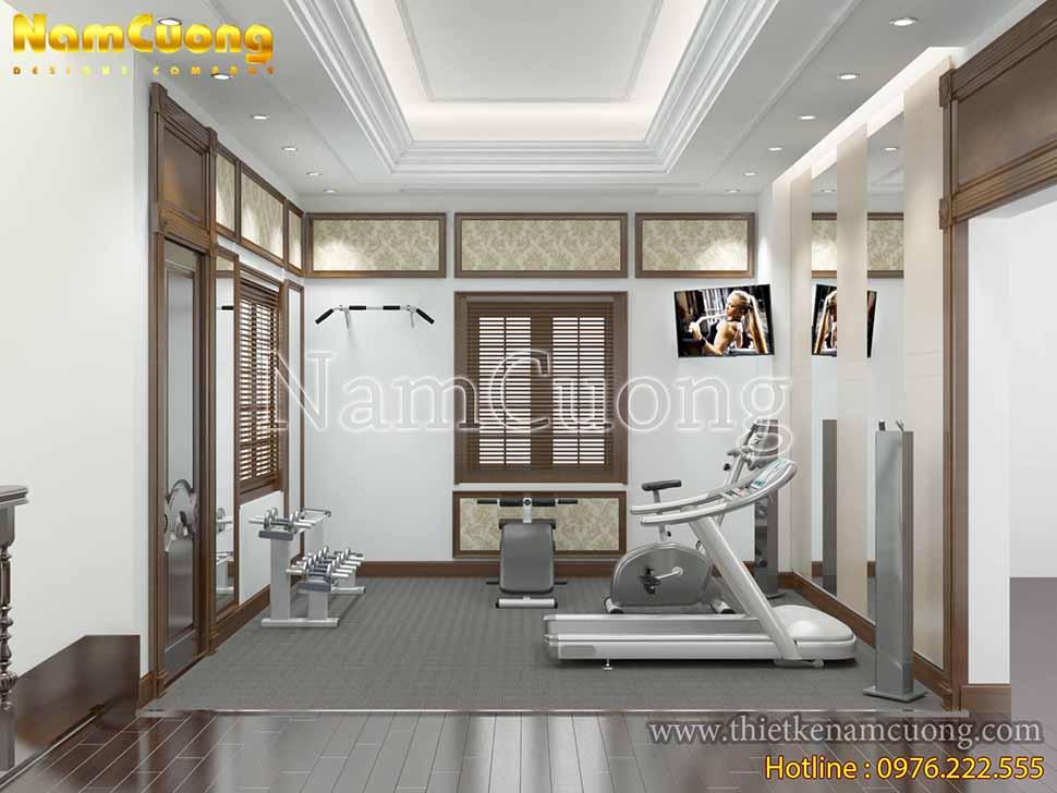 mẫu thiết kế phòng tập gym đẹp