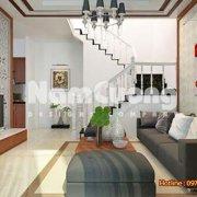 Thiết kế phòng khách hiện đại rộng 18m2