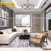 Thiết kế nội thất phòng khách rộng 30 m2