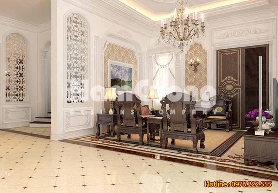 Thiết kế phòng khách nội thất gỗ