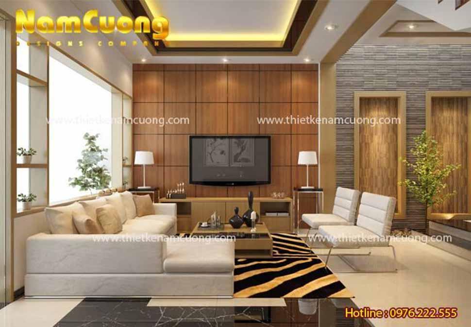 phòng khách 40m2 hiện đại
