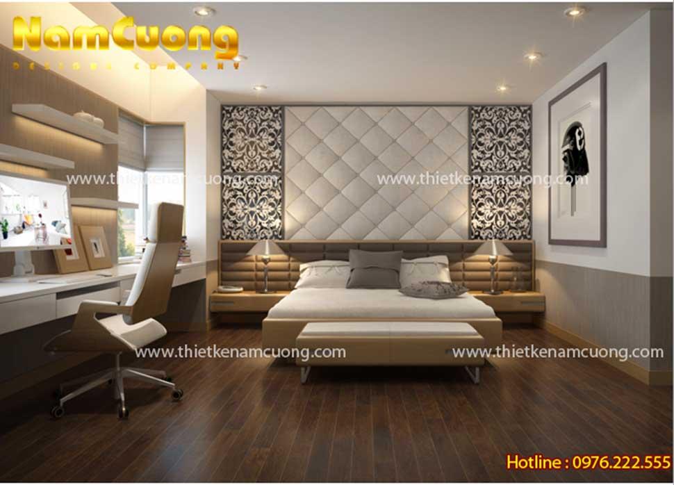 không gian phòng ngủ 20m2 hiện đại