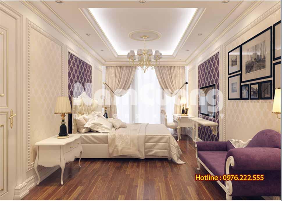 Vẻ đẹp tinh tế của mẫu phòng ngủ tân cổ điển