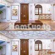 Mẫu thiết kế phòng sinh hoạt chung nội thất cổ điển
