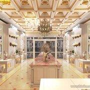 Mẫu showroom nội thất phong cách cổ điển Pháp ấn tượng - SRCD 001