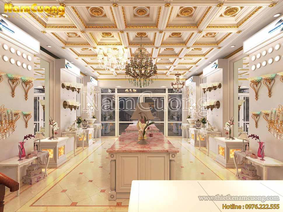 thiết kế showroom đèn trang trí