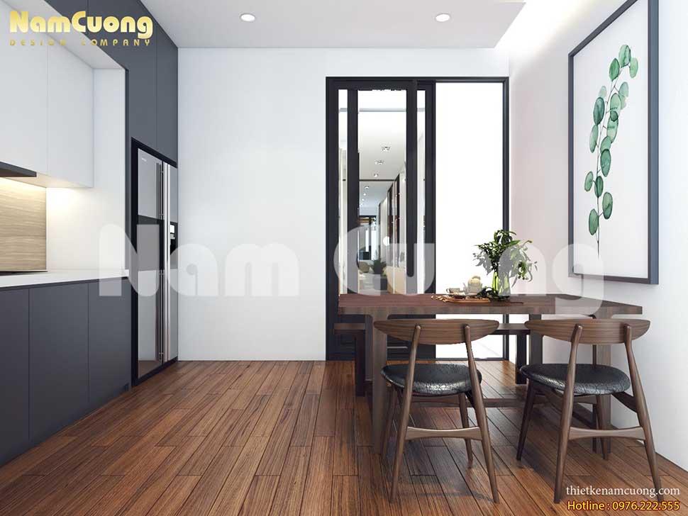 phòng bếp ăn trong thiết kế spa chuyên nghiệp