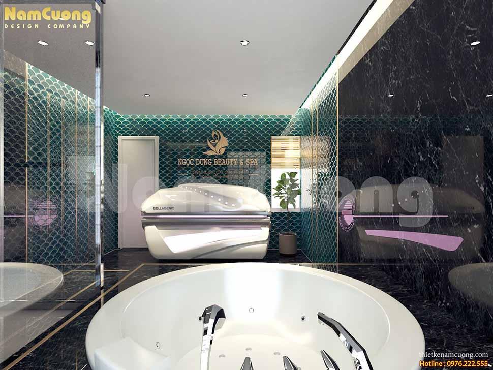 thiết kế thiết bị spa tại nhà