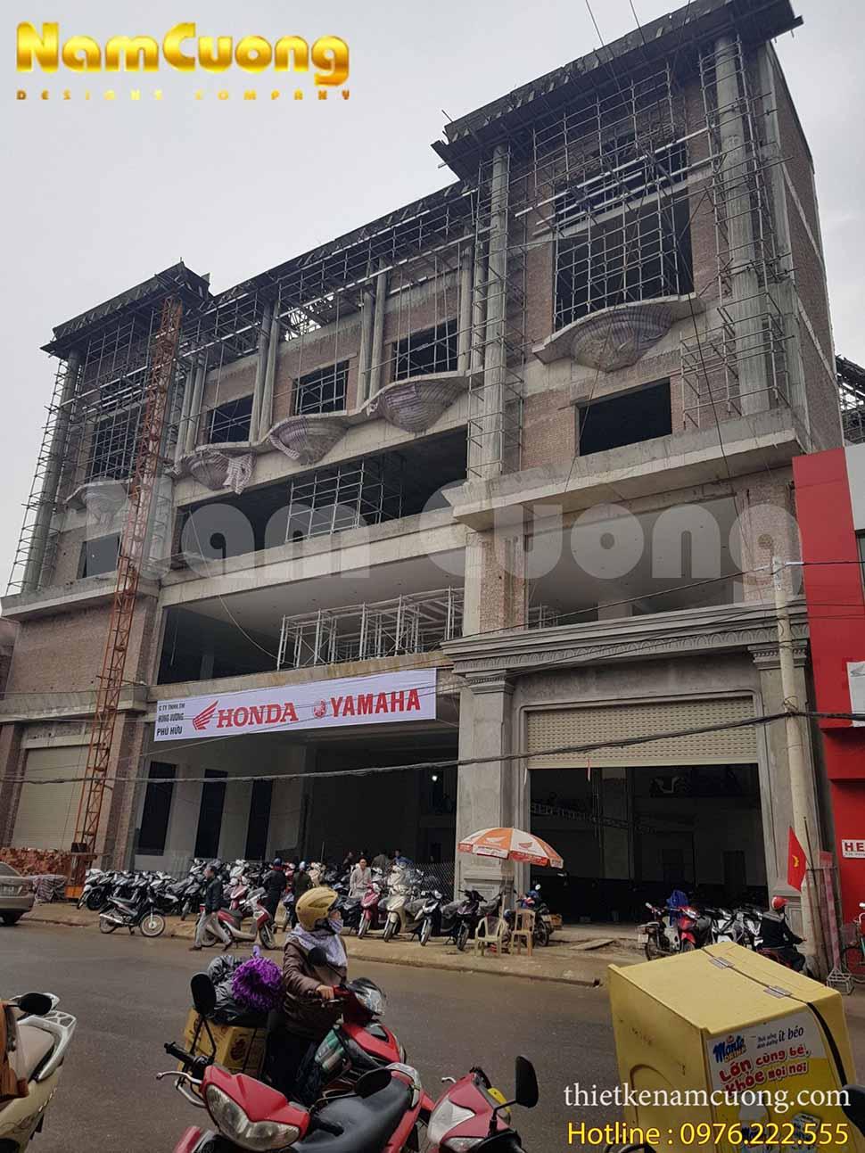 Công trình thi công showroom thực tế tại Nghệ An