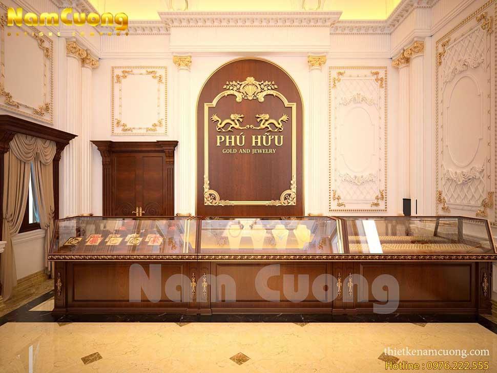 không gian tiệm vàng tân cổ điển