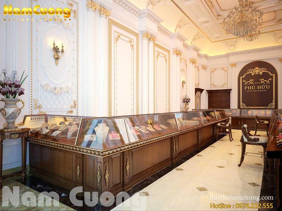 nội thất tiệm vàng