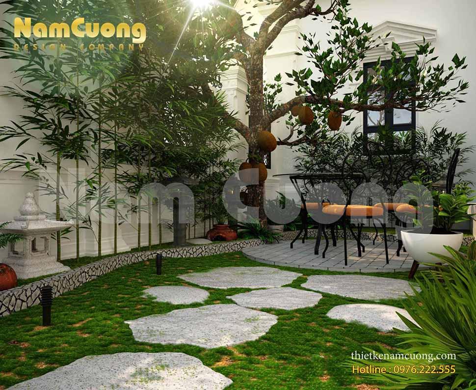 mẫu thiết kế tiểu cảnh sân vườn nhỏ