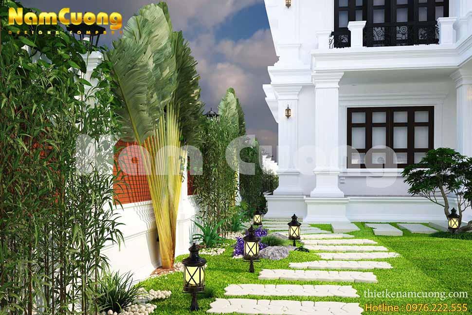 tiểu cảnh sân vườn hiện đại