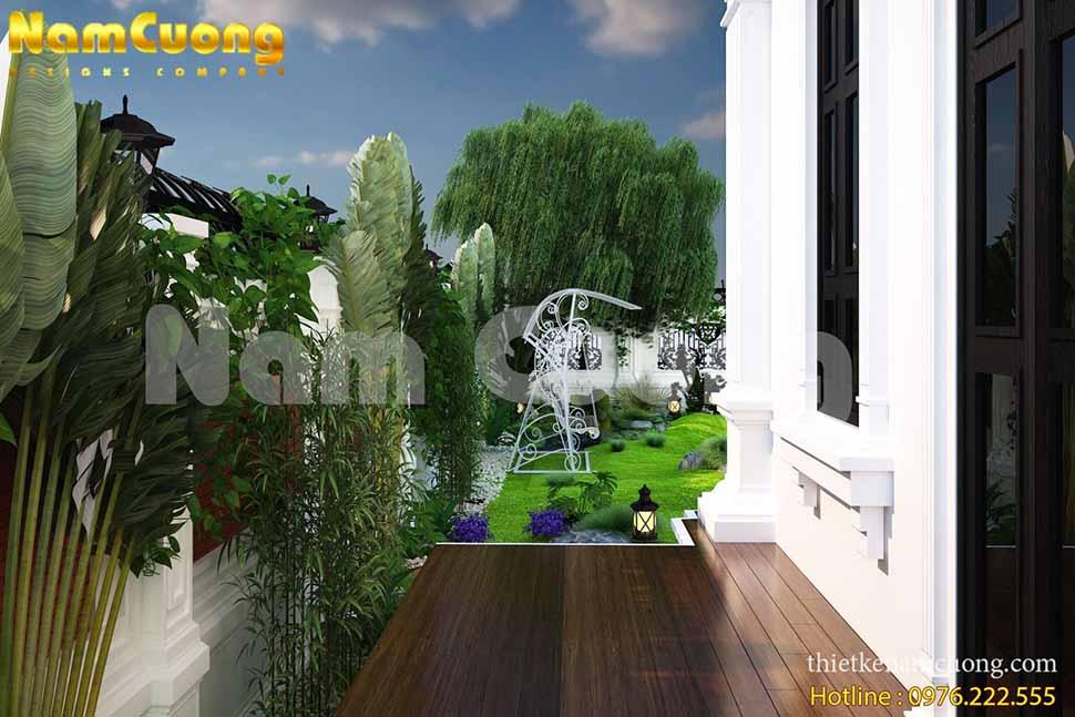 Mẫu thiết kế tiểu cảnh sân vườn hiện đại tại Hải Phòng