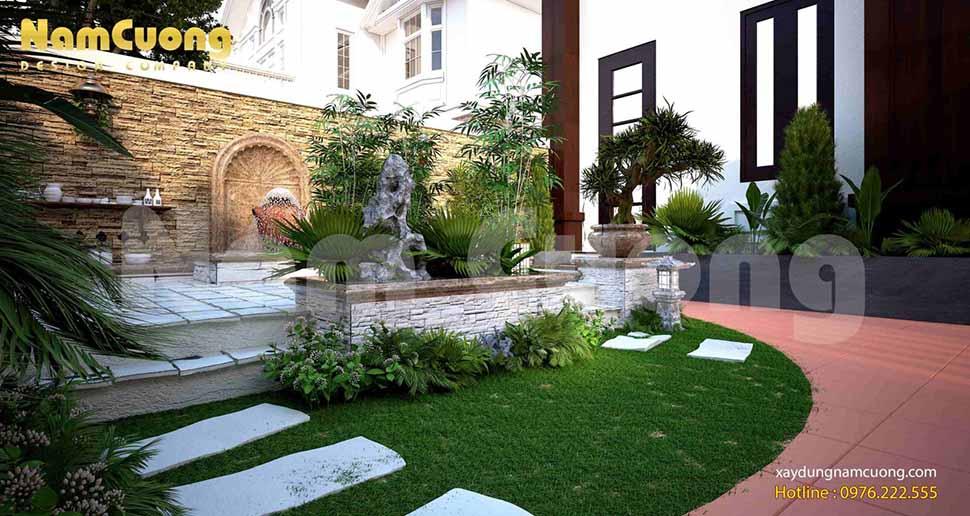một góc tiểu cảnh sân vườn nhỏ đẹp