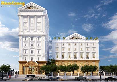 Mẫu tổ hợp khách sạn tân cổ điển tại Sài Gòn
