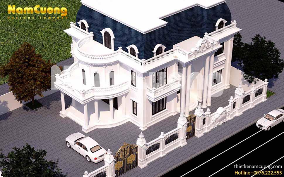 Phương án mới cho mẫu thiết kế biệt thự 300m2