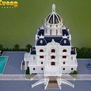 Thiết kế biệt thự kiểu pháp 5 tầng tại Hà Nội