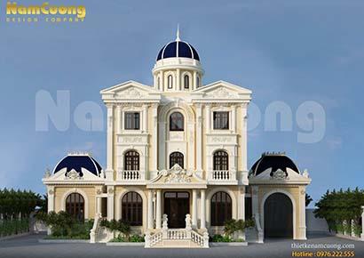 Ấn tượng với thiết kế biệt thự lâu đài Pháp 3 tầng