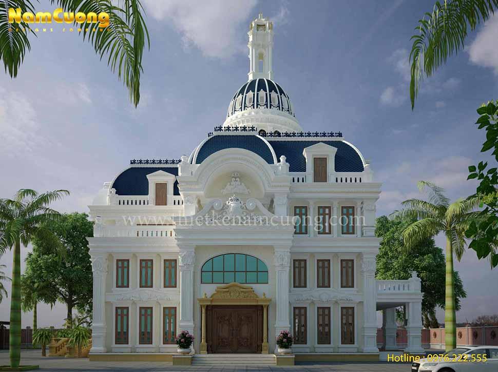 Thiết kế biệt thự lâu đài Pháp đẹp tại Sài Gòn