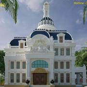 Thiết kế biệt thự lâu đài kiến trúc Pháp tại Sài Gòn
