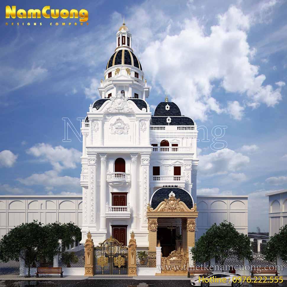 Thiết kế biệt thự lâu đài phố ấn tượng tại Hải Phòng