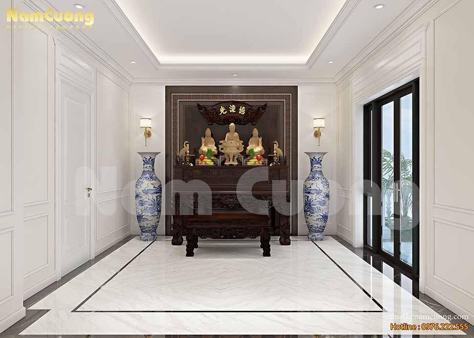 Mẫu thiết kế nội thất biệt thự tân cổ điển tại Quảng Ninh