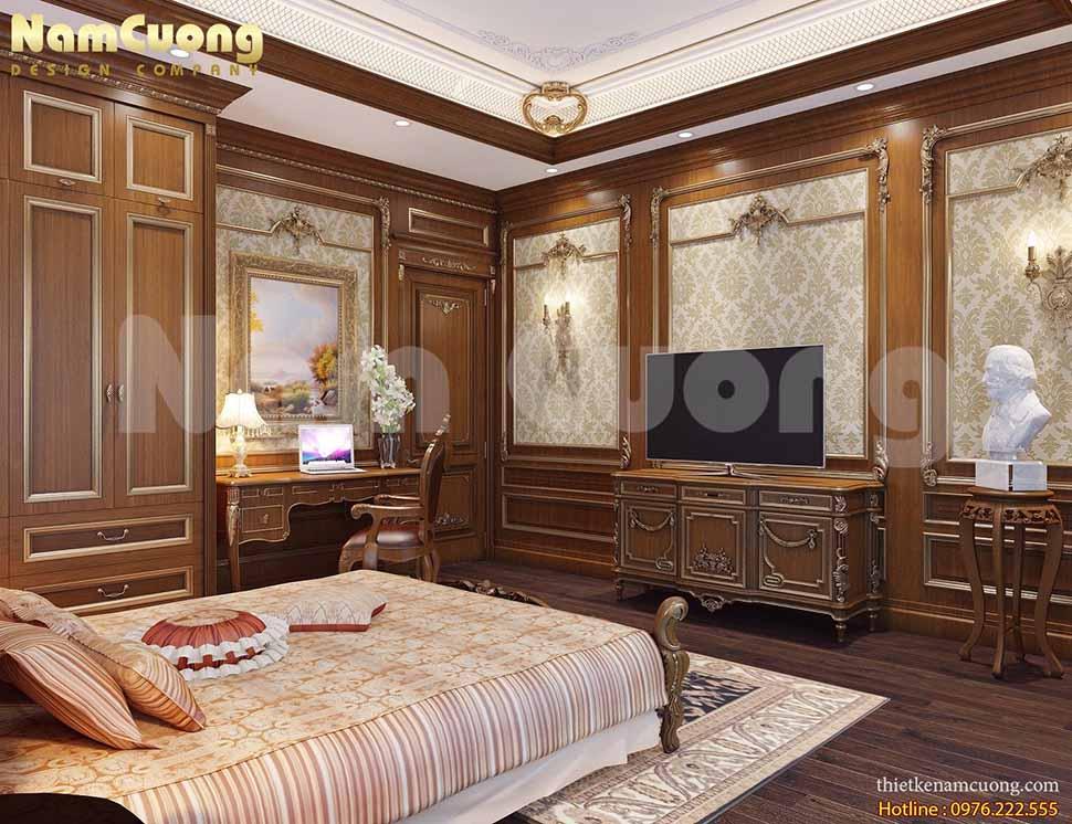 mẫu nội thất biệt thự tân cổ điển