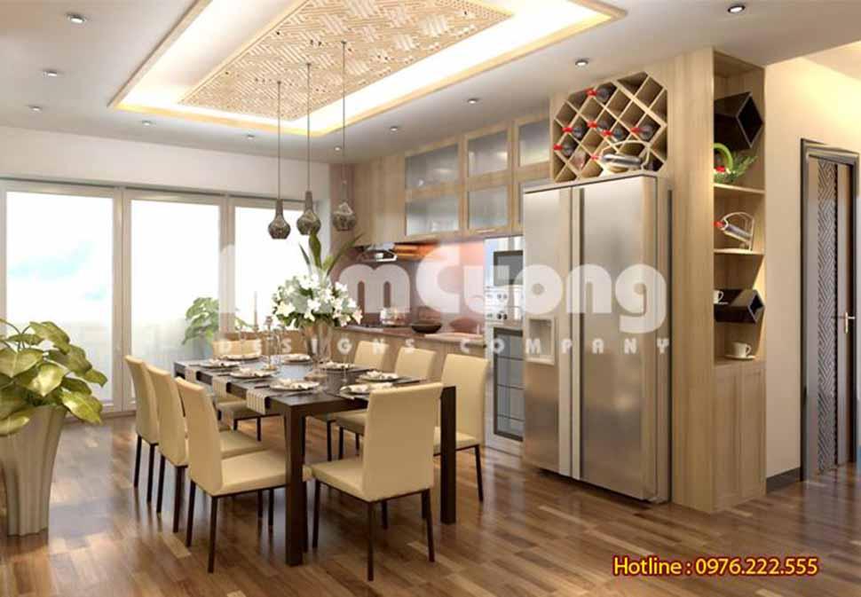 mẫu thiết kế phòng bếp đẹp hiện đại