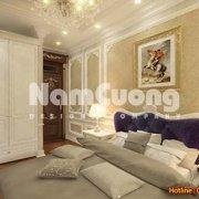 Mẫu thiết kế phòng ngủ nội thất tân cổ điển tại Quảng Ninh