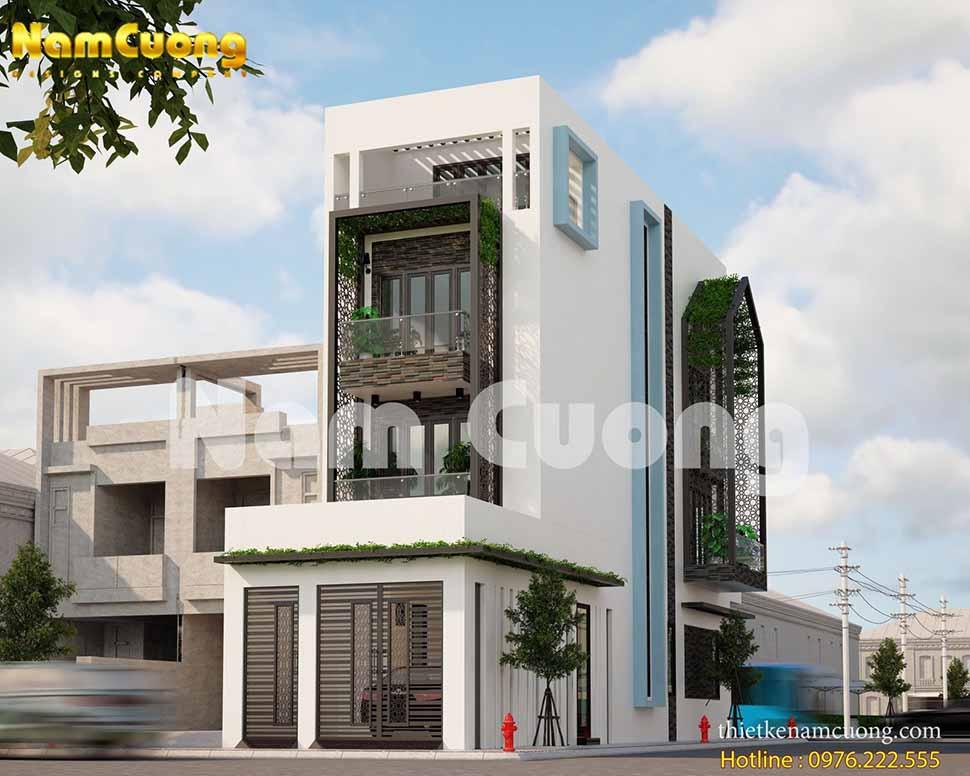 Phong cách lạ của mẫu nhà phố 4 tầng 2 mặt tiền