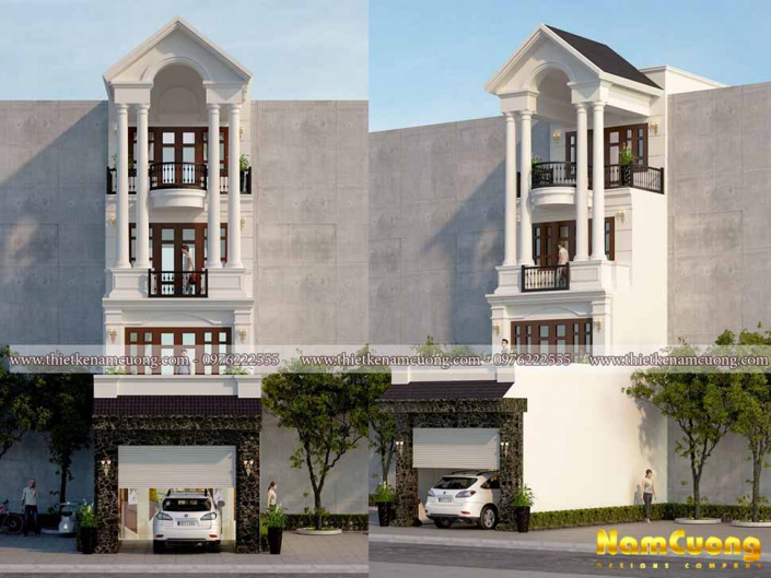 Thiết kế nhà phố 80m2 uy tín