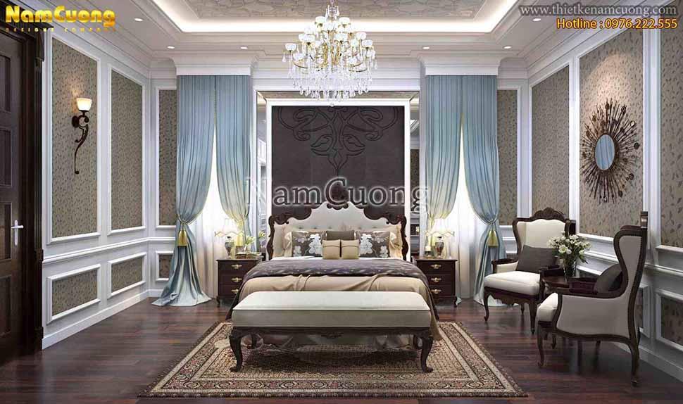 nội thất phòng ngủ biệt thự 3 tầng 300m2