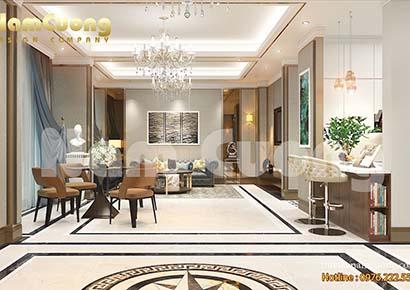 Thiết kế nội thất biệt thự đẹp sang trọng
