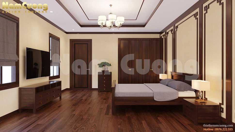 phòng ngủ nội thất gỗ