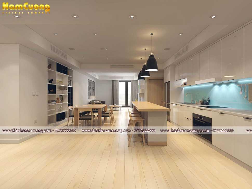 nội thất khu bếp chung cư 3 phòng ngủ